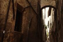 Vicolo medievale del centro spoletino