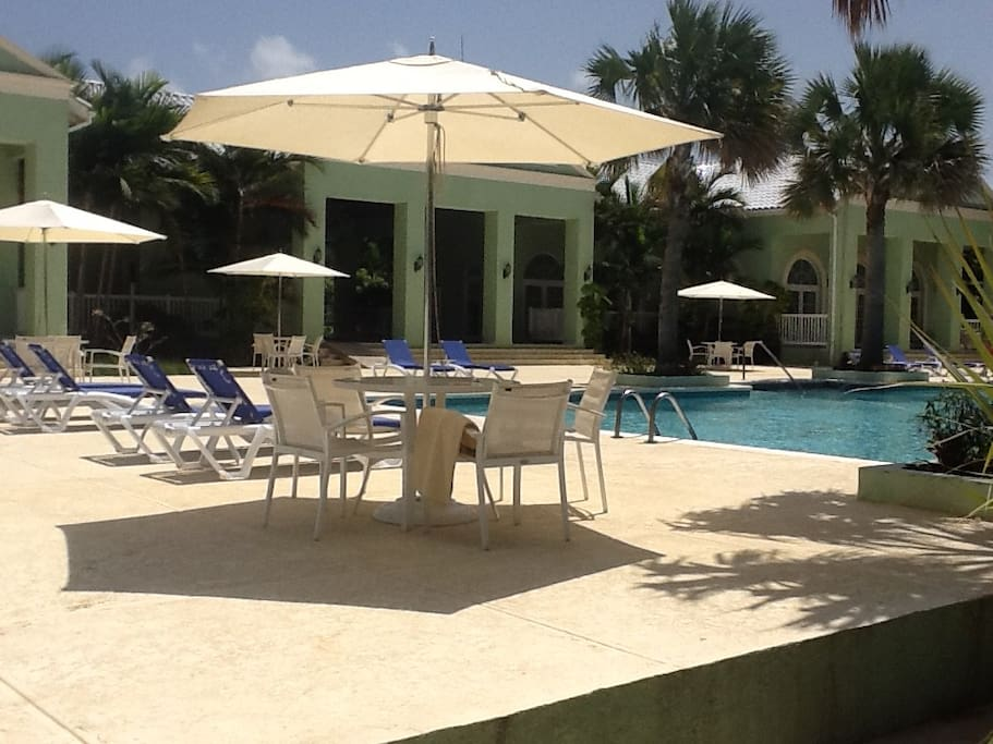 Pool deck and Clubhouse