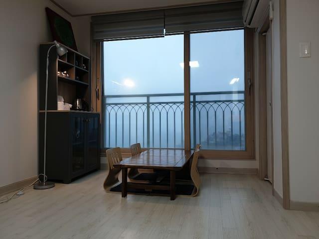 주문진, 양양, 강릉 풀옵션 오션뷰 (12층 전망좋은 방)