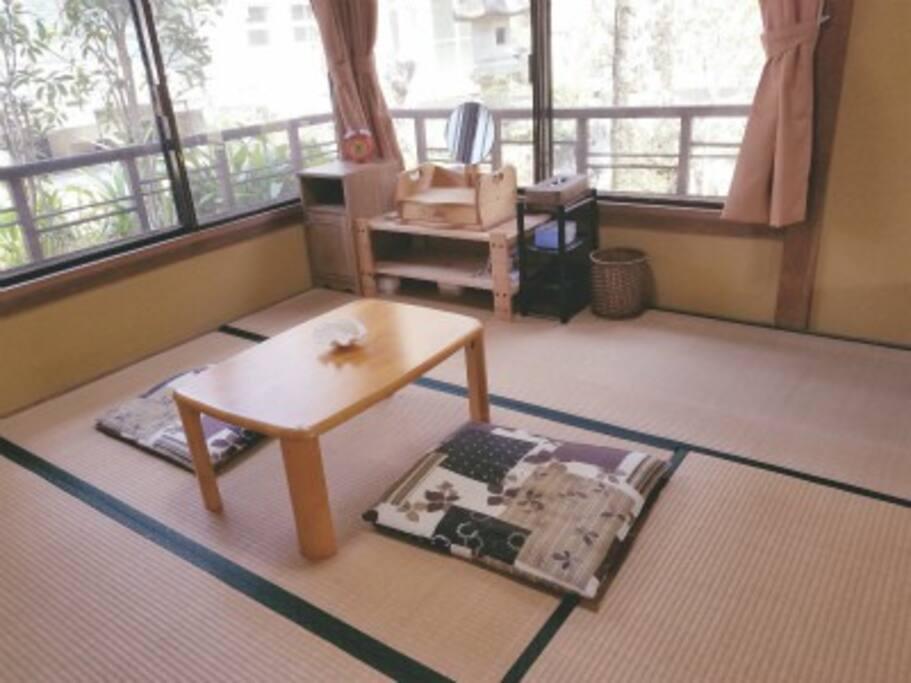 和室でお泊りもできます