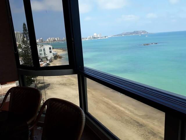 Departamento al pie Del Mar vista espectacular