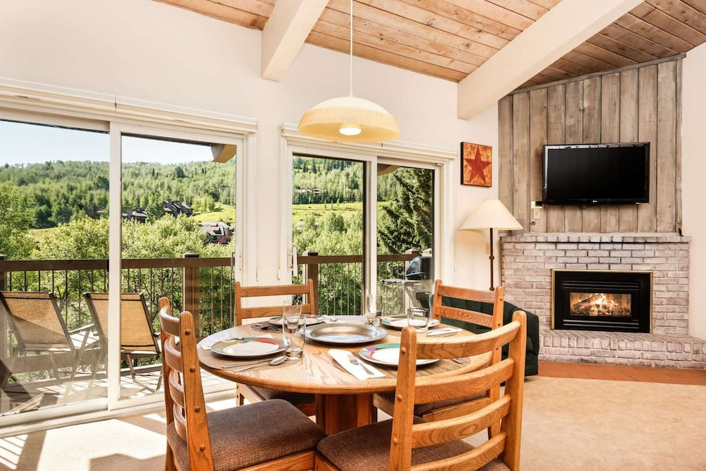 Soak up the warm Colorado sunshine on the balcony or as you enjoy a wonderful dinner prepared on the gas grill.