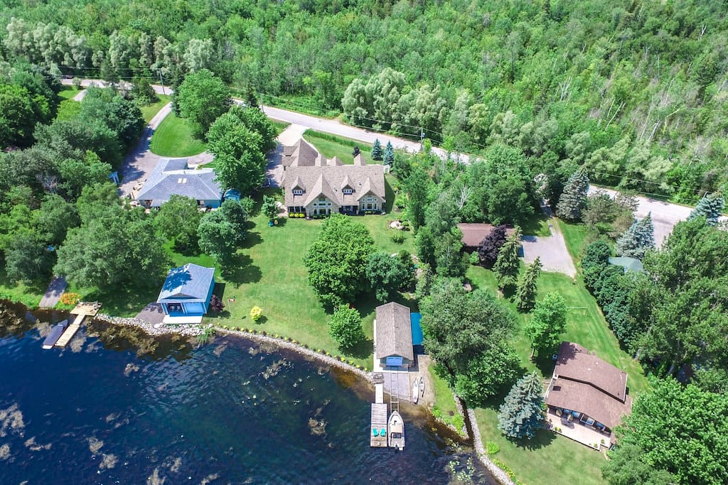Aerial Rear view of House