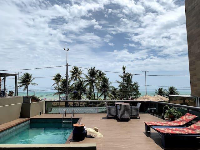 A Casa de Tambaú - À beira mar para até 27 pessoas