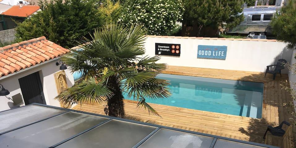 Belle Villa familiale Bord de mer avec piscine