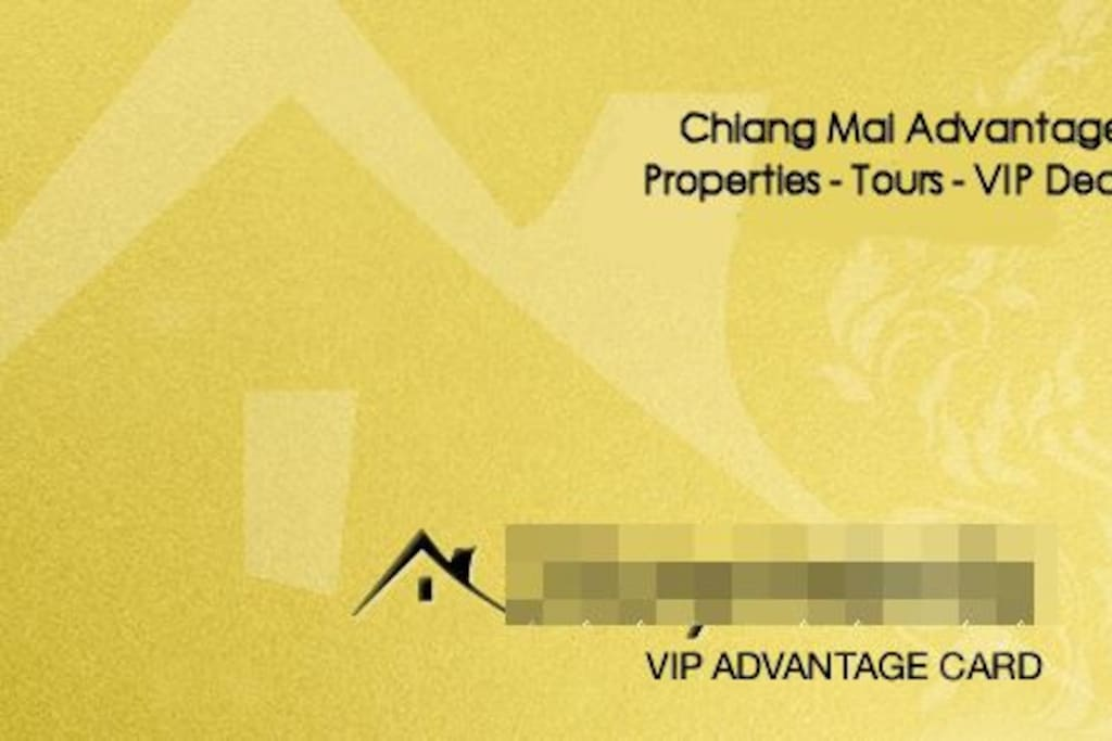 We have our own VIP program with several restaurants, scooter rentals, massage shops etc. for special VIP prices in Chiang Mai