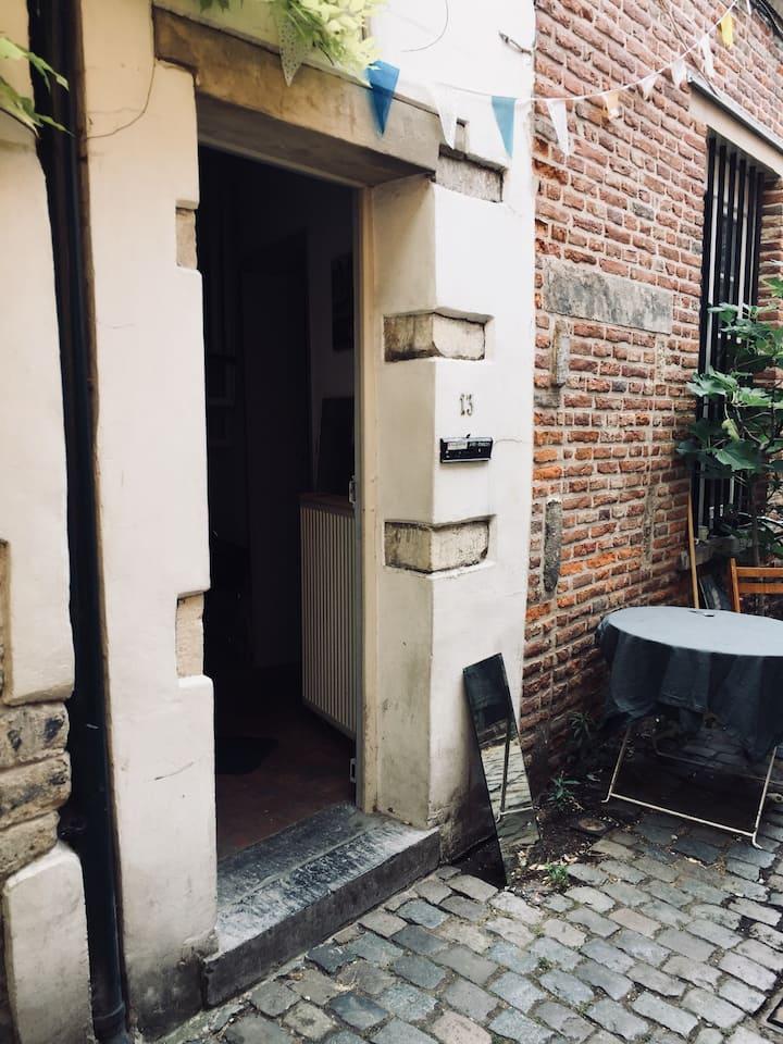 Petite maison centre de Bruxelles