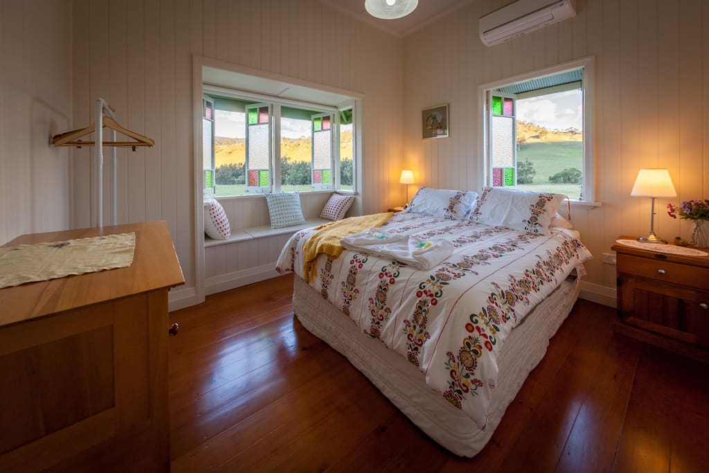 Master bedroom with Queen bed and Air Conditioning
