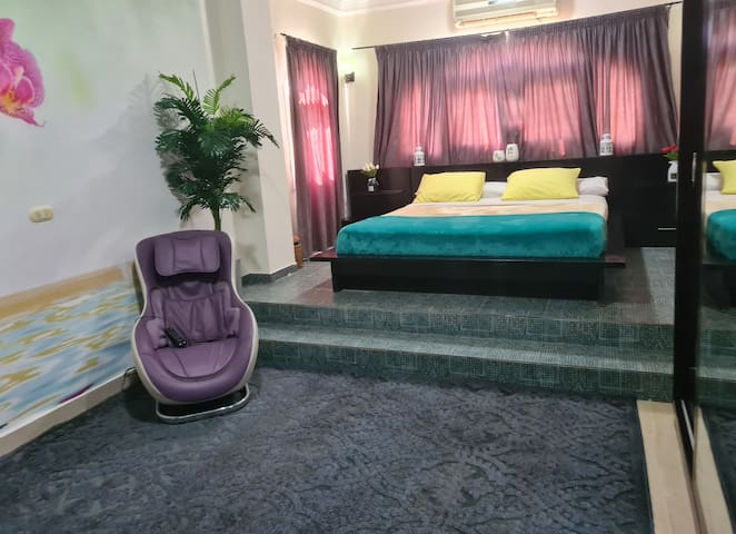 Master bedroom, with massage relax chair