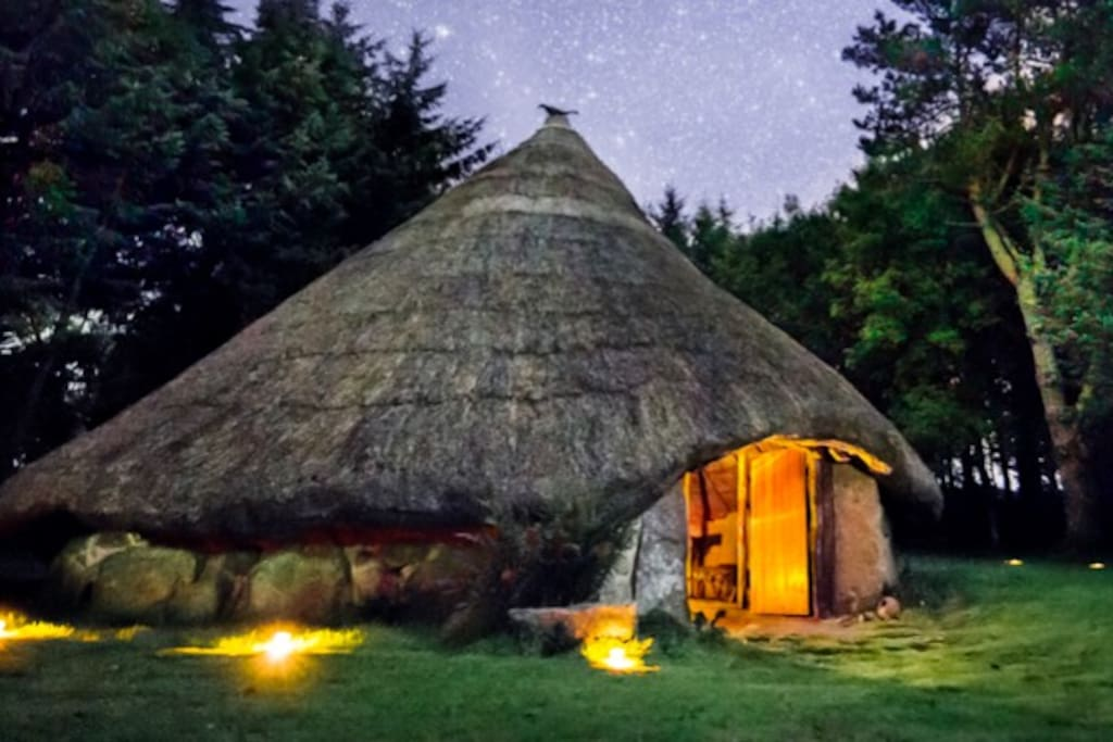 Come & Stay in one of the worlds most romantic & unusual places, our Celtic Roundhouse as featured in Cabin Porn, Lonely Planet & Elle Decoration. Sleeps 2.   No night pollution on our ancient Organic hill farm so starry nights are guaranteed.