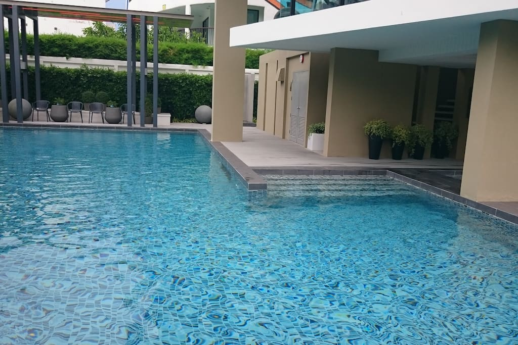 """Outdoor swimming pool. """"common area"""""""
