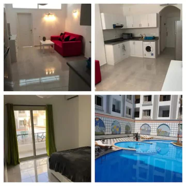 New apartment center Hurghada with swimming pool