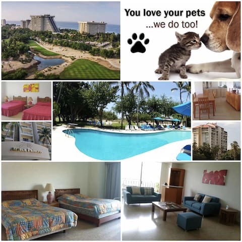 Condo Azteca Princess☆Pool☆Pet Friendly☆A/C☆