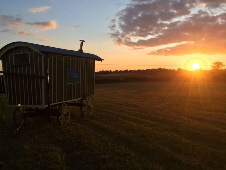 Shepherds Huts on the farm yet so close to Oxford.