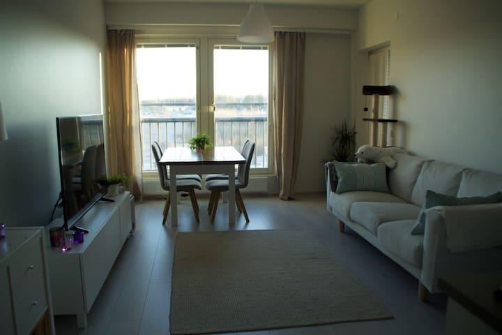 New 1BR apartment w/ sauna 7min airport 20min City