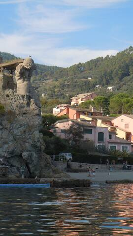 the house from the Spiaggia del Gigante