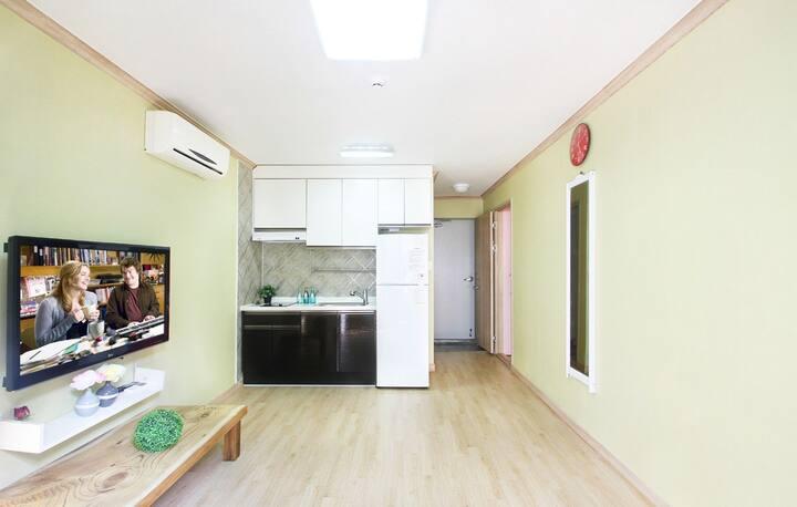 두개의 방이 연결되어 있어 더욱 넓고 쾌적하게 휴식을 취할 수 있는 에스프레소 객실