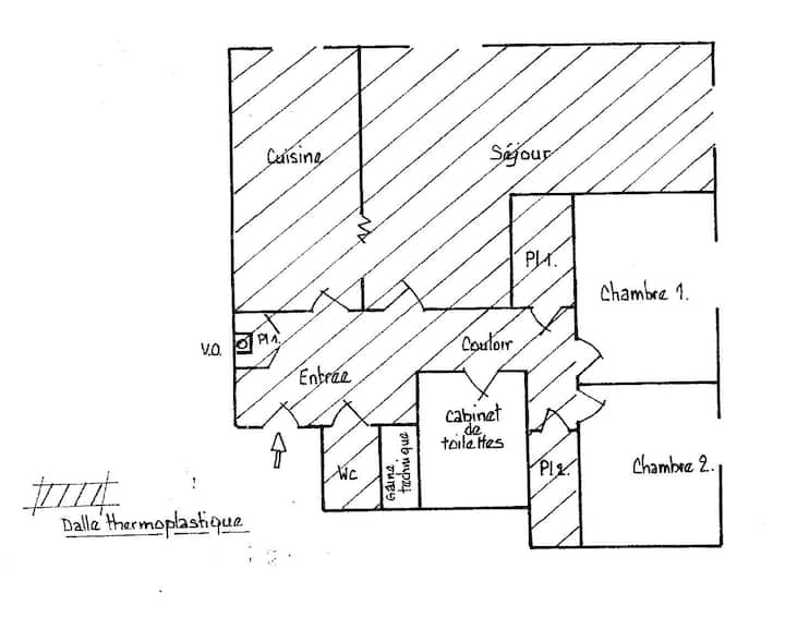 appartement T3 calme avec place de parking