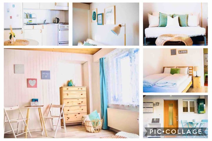 1 1/2 room City Bijou - next to the train station