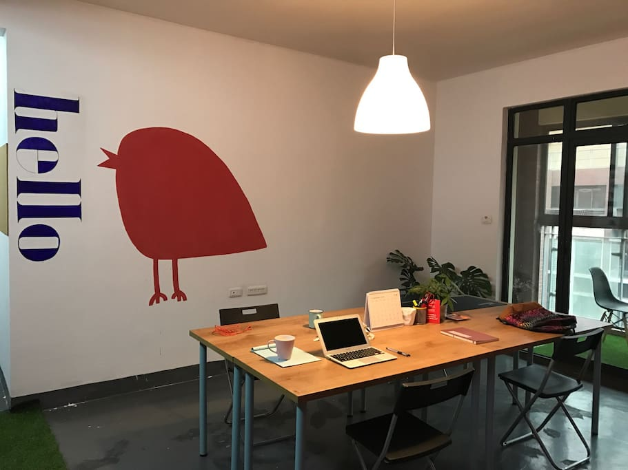 Working space for 4 people