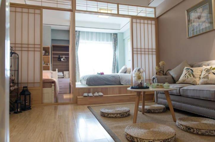 上海金山万达广场日式榻榻米小二室景观豪华房家庭房