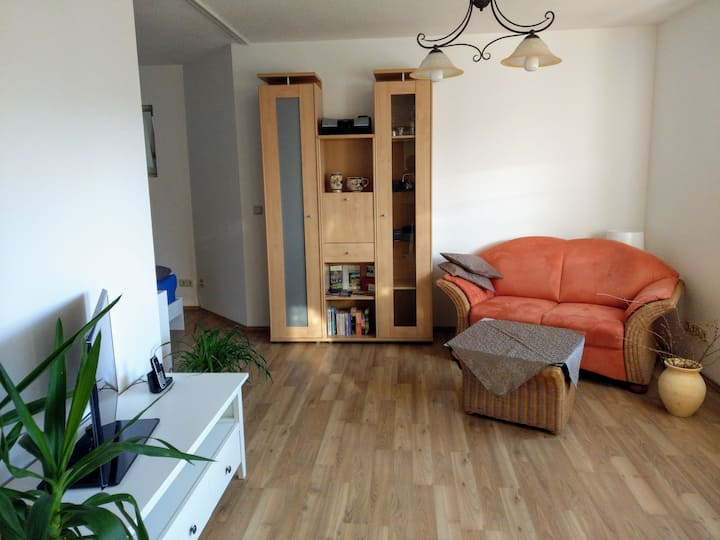 Ruhiges Appartement mit Blick ins Saaletal