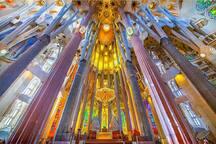 Sagrada Familia. 15 minutes walk