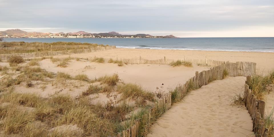 Balade à Fréjus et sa plage bordée de dunes!