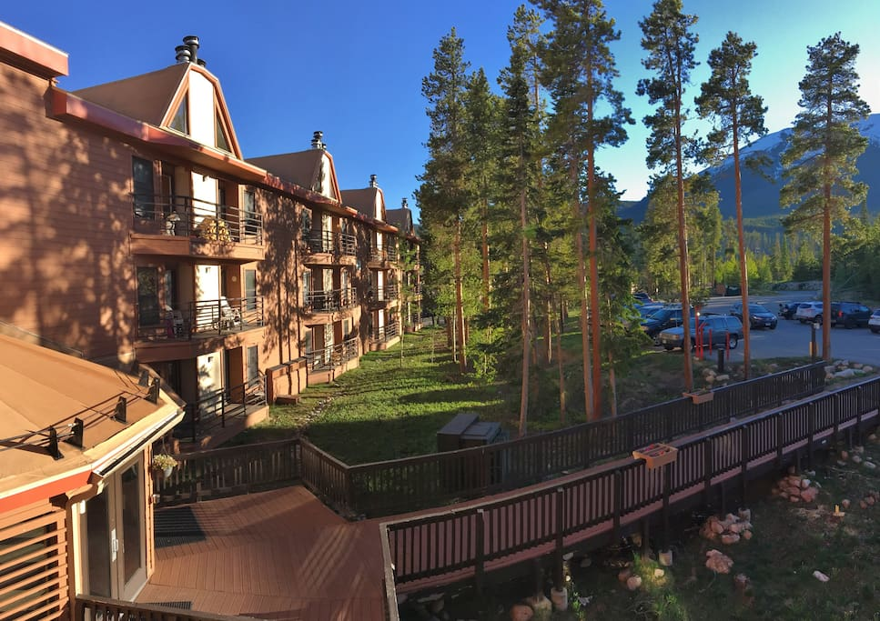 From Our Deck, Buffalo Mtn. and the BB Wing of the Bldg.