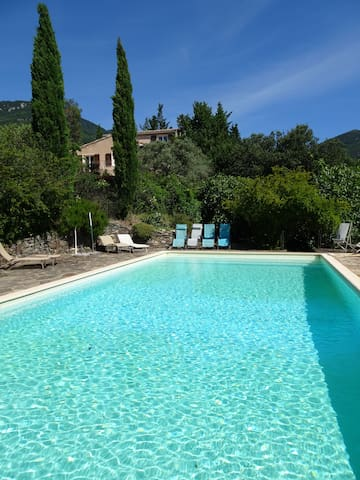 Les Cypres with private swimming pool and view