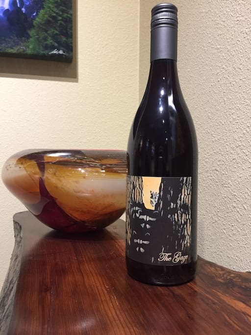Enjoy a bottle of our own Hoffman Woods estate grown Pinot noir.  Compliments of the house!