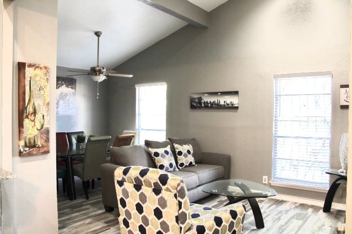 Second living room with second sofa sleeper
