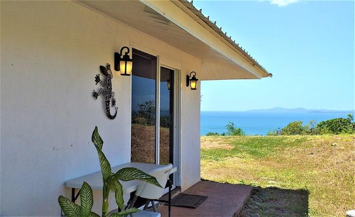 Cosy Hilltop Cottage Overlooking the Pacific Ocean
