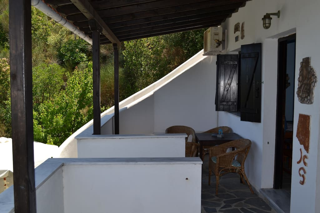 The apartment's balcony