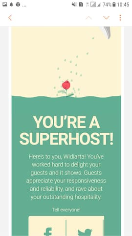 Qualified as super host october 2018