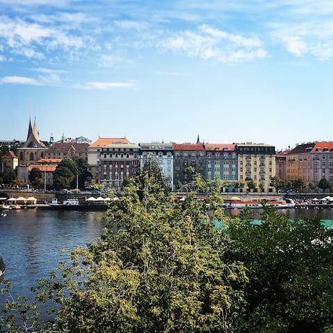RIVER VIEW, BIG Spacious Room - Prag - Daire