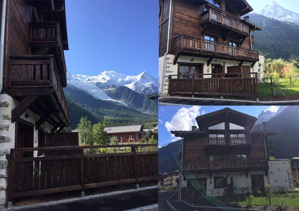 Jardin avec vue Mont-Blanc - Glacier des Bossons