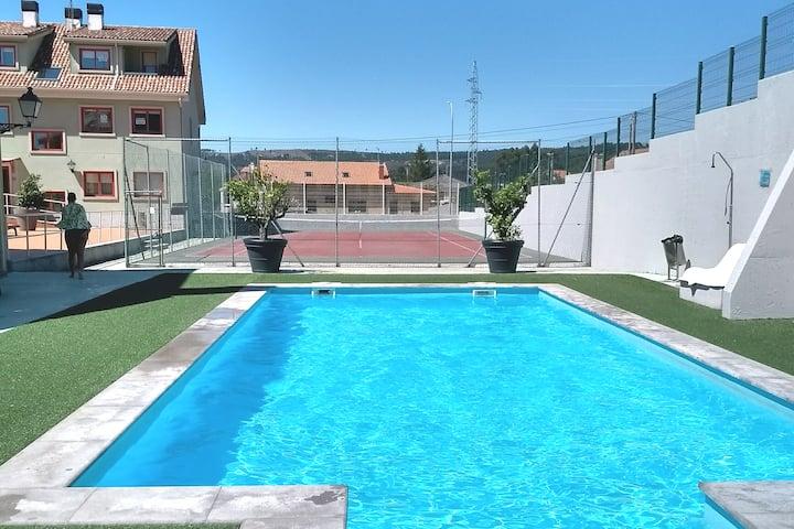 Rías Baixas, Palmeira-Ribeira. Piscina/Playa/Tenis