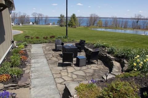 NEW Seneca Lake View Chalet with pond