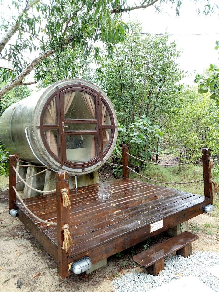 TUBECABIN #2 at kekunang tering chalet rm135/day
