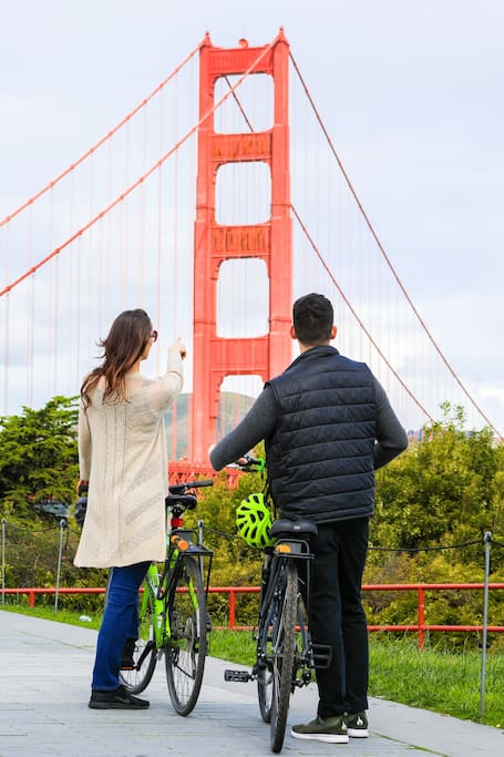 GOLDEN GATE BRIDGE GUIDED BIKE TOUR!