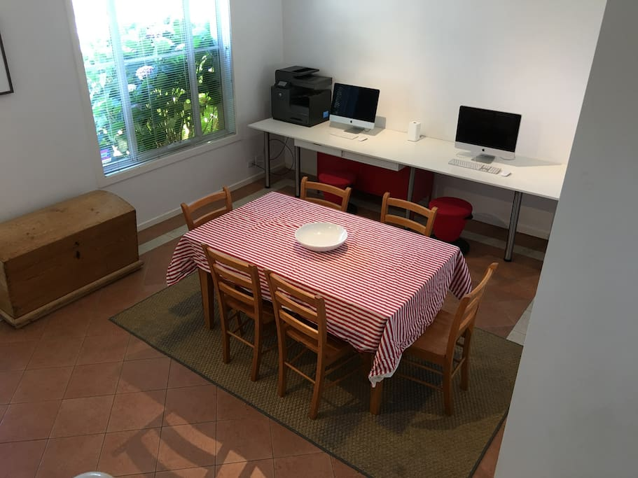 Dining area with study bench with Wifi access