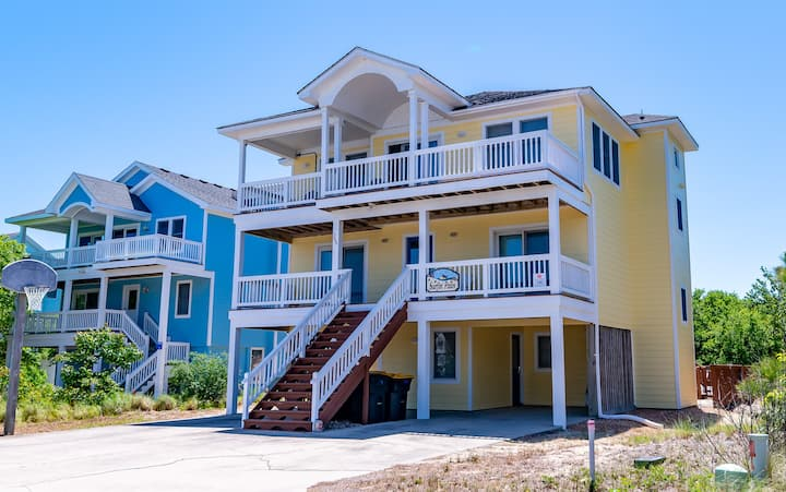 C7366 Surfin' Paws. Oceanside, PETS OK, Pool, Hot Tub, Linens, Hot Tub! | 7 Bedroom, 5 Bathroom