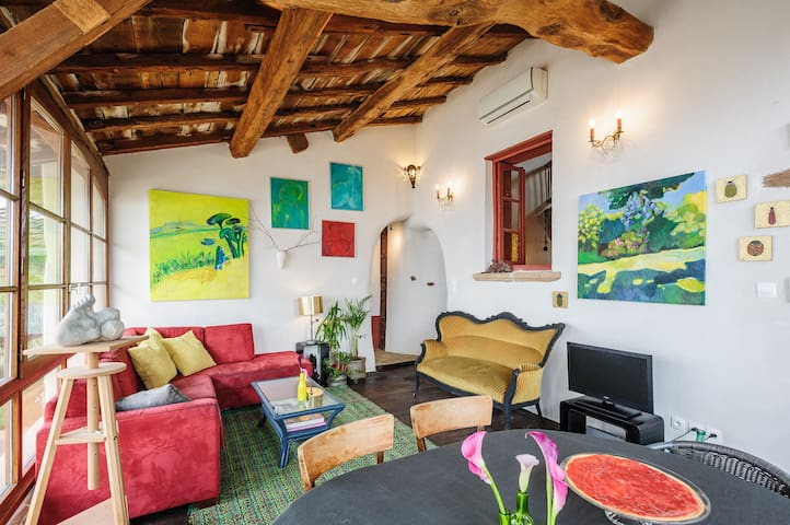 loft in Beautiful XIX° farm Lyon - Genay - Podkroví