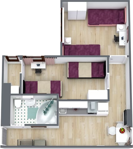 Cozy 2-bedrooms apartment at Spandau Area