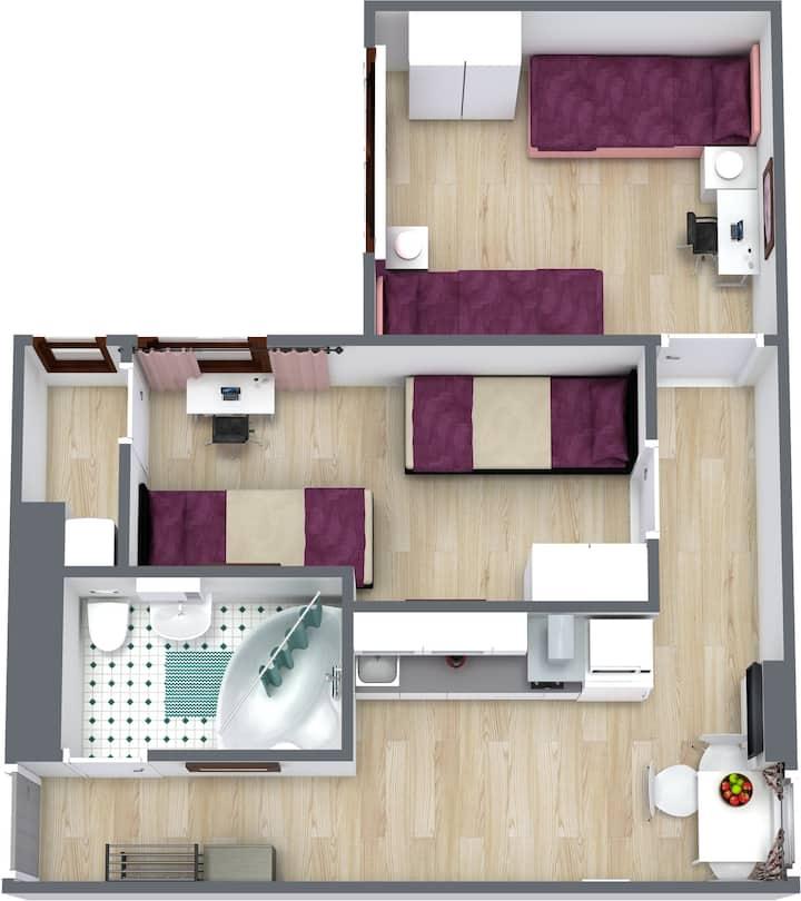 Двухкомнатная квартира на Штаакенер (32)