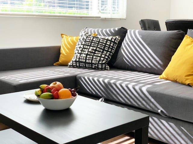 Bright, cozy, private ground level unit