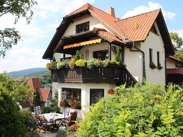 Ferienwohnung PANORAMA (Rauenstein - Gem. Frankenblick) - LOH05413, Ferienwohnung, 75qm, Garten, 2 Schlafzimmer, max. 4 Personen