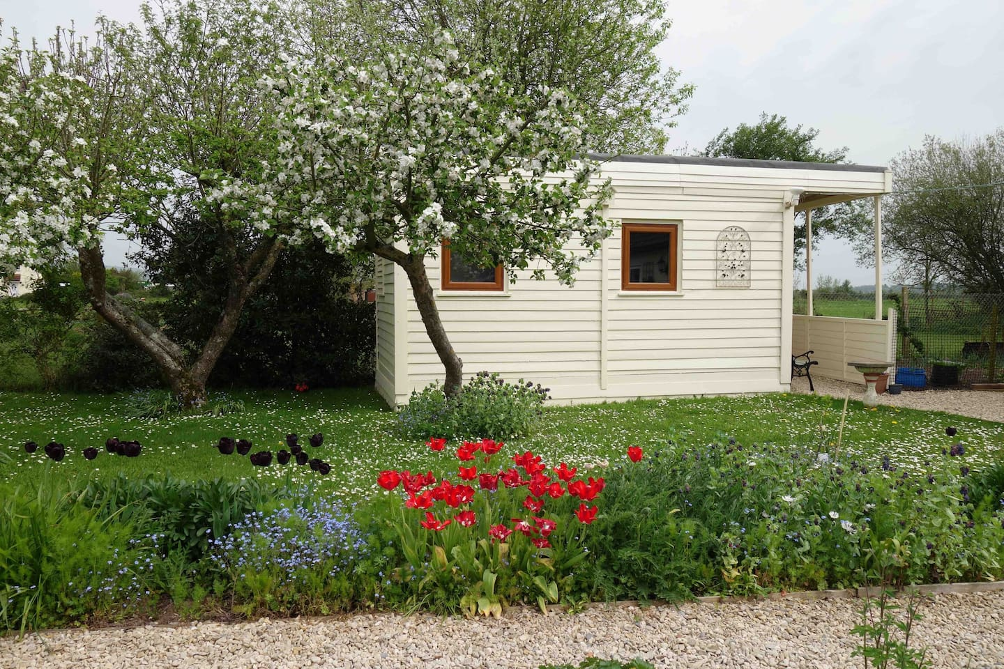 The Cabin is set in part of our garden for you enjoy the peaceful surroundings (we generally use a separate garden so you can be private)