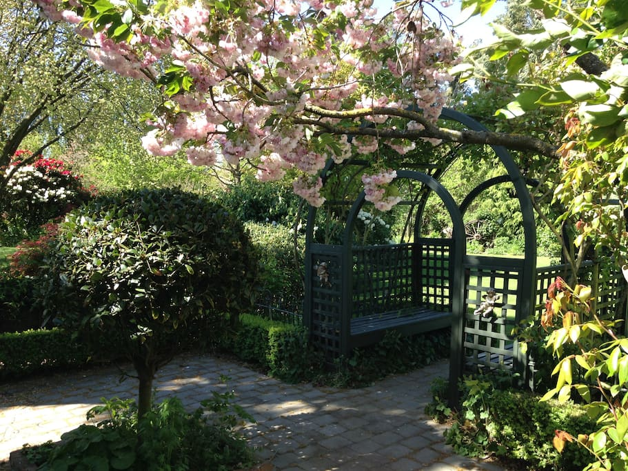 A quieter Space to smell he roses and escape the sun